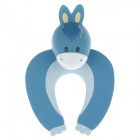Cute Cartoon Horse Style Safety Door Stopper - Blue + White