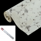 R37901 China Rose Style Wall Paper Sticker Dekorative PVC Paper - Weiß