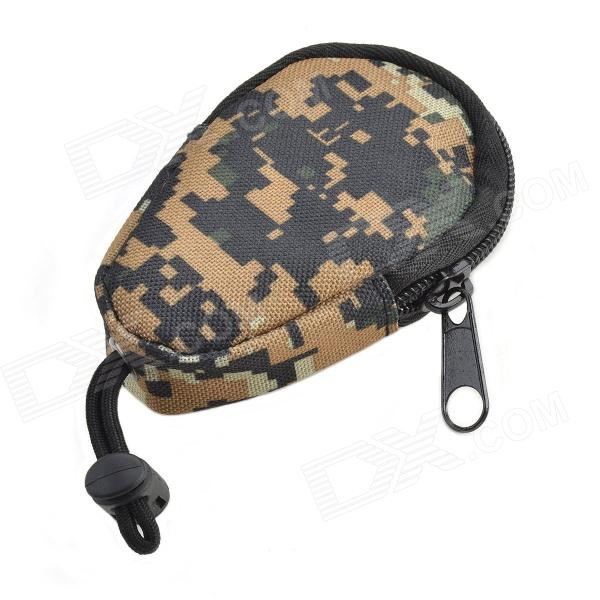800D Waterproof Outdoor Key Bag - Brown Camouflage 800d water resistant dual compartment mobile phone carrying bag camouflage brown