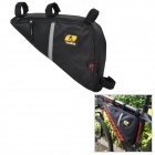 YANHO 1319 Water Resistant Oxford Fabric Cycling Bike Triangle Zipper Bag - Black