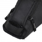 YANHO 1319 Water Resistant Fabric Bike Triangle Zipper Bag - Black
