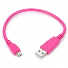 USB Male to Micro USB Male Data Charging Cable - Deep Pink (27cm)