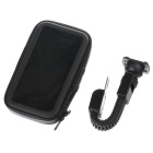 M08 360' Rotation Scooter Bracket w/ PU Leather Waterproof Bag for Samsung N7100 / i9200 - Black