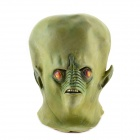 Halloween Green Alien Mask - Green + Red (Big Size)