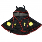 Halloween Ox Horn Cape Cloak - Black + Red + Yellow