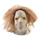 Halloween Blonde Hair Rotten Face Ghost Mask - Golden + White