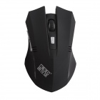KSD 108A 2.4GHz Wireless 600/800/1000/1200/1600 DPI Optical Game Mouse - Black