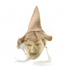 Halloween Hatted Gray-face Witch Mask - White + Brown + Gray
