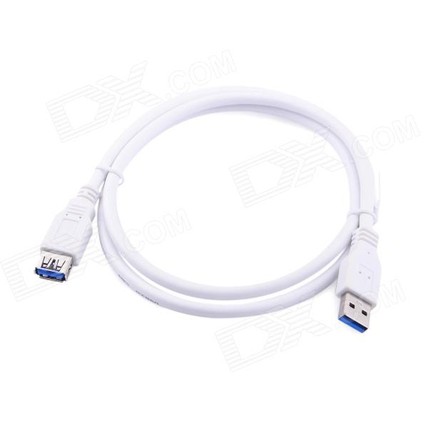 USB3.0 AM to AF High Speed Data Cable - White (1m) 1m usb am to cm spring cable