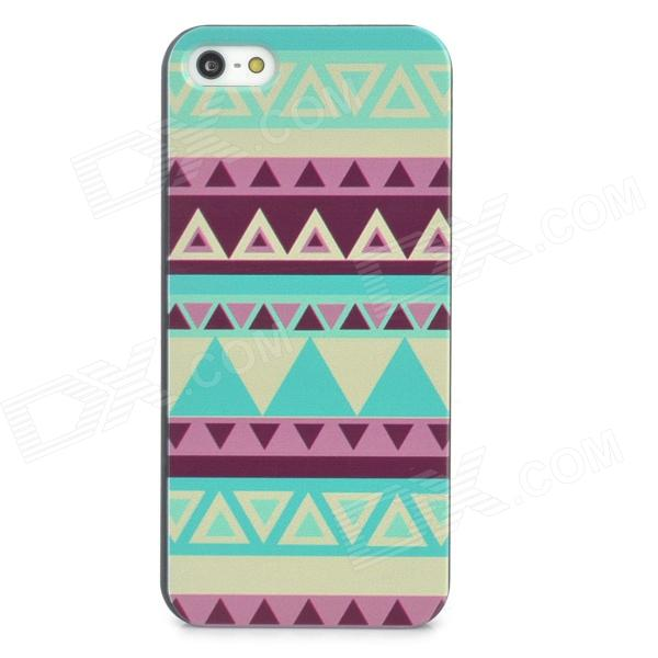 Relief Tribal Ethnic Style Protective Plastic Back Case for Iphone 5 - Multicolor relief tribal ethnic style protective plastic back case for iphone 4 blue white red