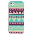 Relief Tribal Ethnic Style Protective Plastic Back Case for Iphone 5 - Multicolor