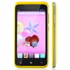 "TIMMY E128 MTK6572 Dual-Core Android 4.2 GSM Bar Phone w/ 4.5"", Wi-Fi, FM, Dual-SIM - Yellow"