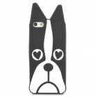 Cute Dog Style Protective Silicone Back Case for Iphone 5 - Black + White