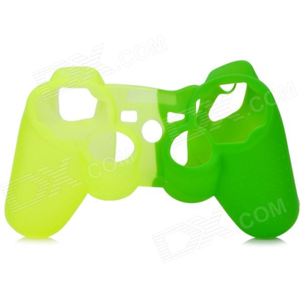 Protective Silicone Cover Case for PS3 Controller - Green + Yellow protective silicone cover case for xbox 360 controller yellow blue