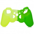 Protective Silicone Cover Case for PS3 Controller - Green + Yellow