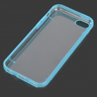 Glow-in-the-Dark Protective Plastic Back Case for Iphone 5C - Blue + Transparent White