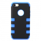 3-in-1 Protective Silicone Plastic Full Body Case for Iphone 5C - Blue + Black
