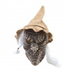 Halloween Brown-face Witch Mask with A Hat - White + Black + Brown