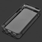 Protective Plastic Back Case for Iphone 5C - Black + Transparent
