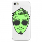 Glow-in-the-Dark Cool Man Style Ultrathin Protective PVC Back Case for Iphone 5 - White + Green