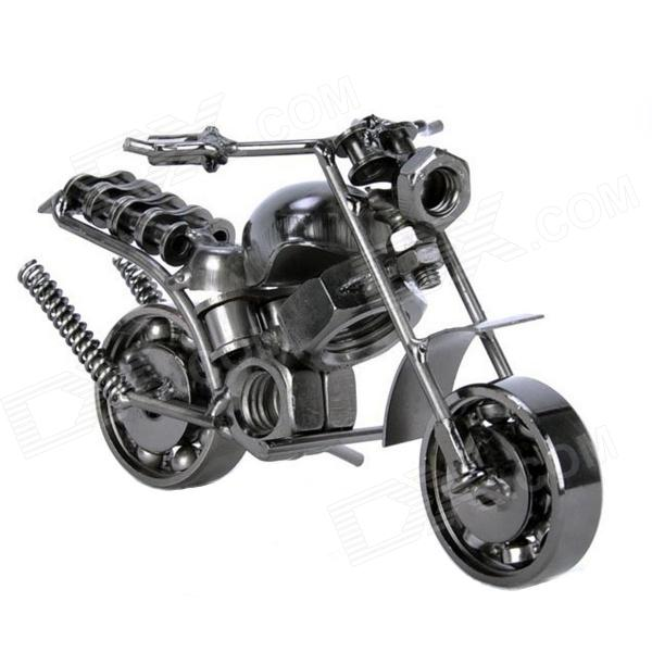 Creative Wrought Iron Motorcycle Model Furnishing Article - Black