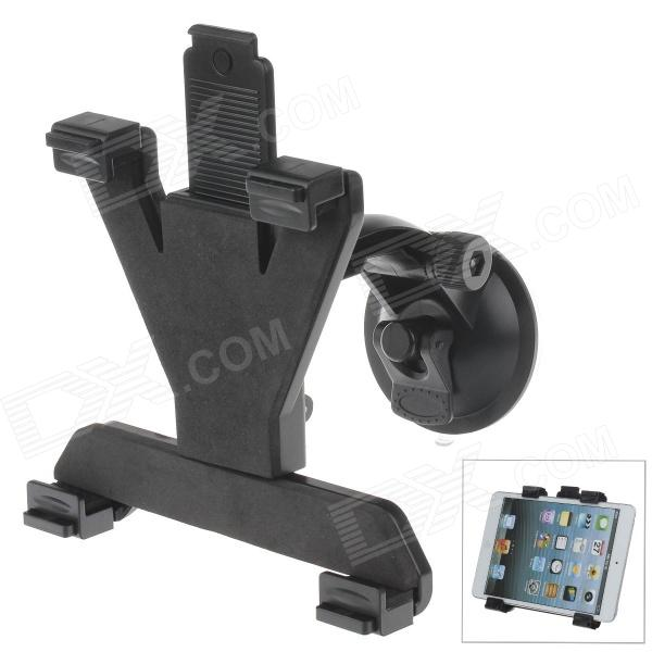 180 Degree Rotation Holder Mount w/ H01 Suction Cup + C60 Back Clamp for 7-10 Inch Tablets  - Black
