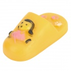 Vinyl Pet Dog Shoe Squeaker Toy - Yellow + Black + White + Pink