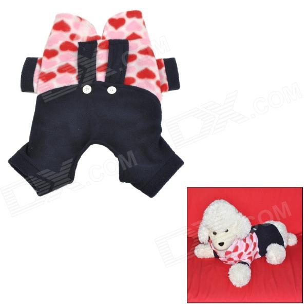 Pet Dog Suspender Trousers - BlBlack + Red + Pink + Beige (Size S)