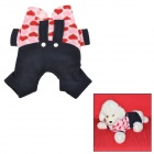 Pet Dog Suspender Trousers - Black + Red + Pink + Beige (Size S)