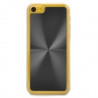 Protective Aluminum Alloy + PC Back Case for Iphone 5C - Black + Transparent