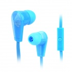 KEEKA MIC-102 Fashion In-Ear Earphone w/ Microphone for Cellphone - Blue + White