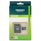 KINGMAX Micro SD Memory Card w/ SD Adapter - Black + White (64GB / Class 10)