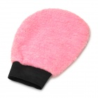 Dual-Side Soft Car Waxing Washer Cleaner Glove - Pink