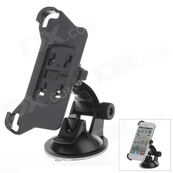 180 Degree Rotation Holder Mount w/ H01 Suction Cup for Iphone 5 - Black universal car suction cup mount bracket holder stand for samsung galaxy note 3 more black