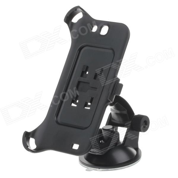 180 Degree Rotation Holder Mount w/ H01 Suction Cup for Samsung N7100 - Black