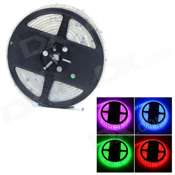 HML IP68 Waterproof 4-Pin 72W 5400lm 300-SMD 5050 LED RGB Car Decoration Light Strip- White (5m)