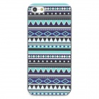 Tribal Ethnic Style Protective Plastic Back Case for Iphone 5 - Black + White + Blue