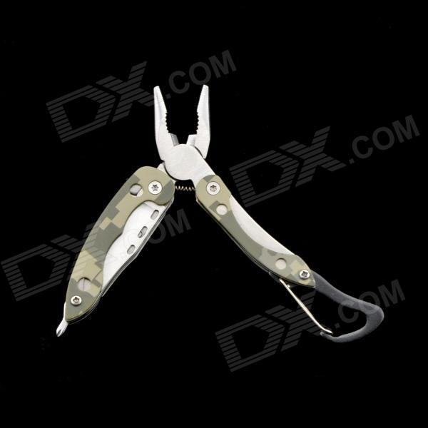4-in-1 Portable Pliers w/ Buckle - Camouflage Green