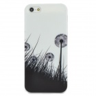Dandelion Style Protective Plastic Back Case for Iphone 5 - Black + White