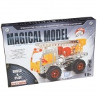 Iron Commander SM146737 DIY Metal Assembled Toy Truck - Silver + Yellow + Red