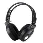 "MJ-328 1.5"" LCD Hi-Fi Folding MP3 Headphone w/ Mic / TF / FM - Black"