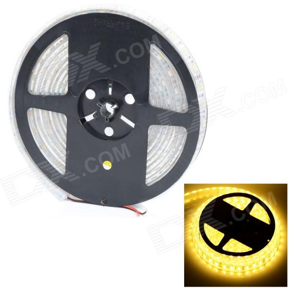 HML Waterproof 72W 6000lm 3500K 300-5050 SMD LED Warm White Car Decoration Lamp Strip - White (5m) цена