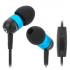 JBM A8 Stylish In-Ear Bass Earphones w/ Microphone for Iphone / Samsung / HTC - Blue + Black