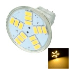 GCD M2 GU4 4W 180lm 2700K 15-SMD 5630 LED Warm White Light Lamp Bulb - White (DC 12V)