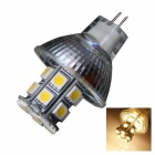 GCD V2 GU4 4W 24-SMD 5050 LED Warm White Energy Saving Spot Light Bulb - White (DC 12V)
