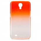 Water Drops Pattern PC Back Case for Samsung i9200 - Orange + White