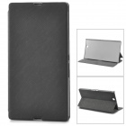 Protective PU Leather + Plastic Case for Sony Xperia Z Ultra XL39h - Black