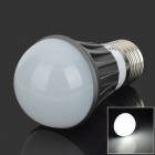 E27 3W 90lm 6500K 6-SMD-5730 LED White Light Bulb - Deep Grey + Silver (100-240V)
