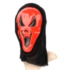 Halloween Horrible Plastic Mask - Black + Red