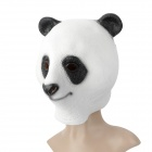 A-055 Halloween Party Cosplay Animal Panda Style Mask - White + Black